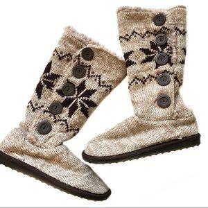 Mukluks A La Mode Sweater Boots Tall, Side Button
